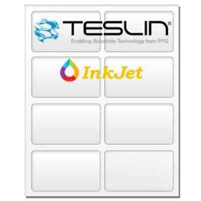 Teslin®ynthetic Paper - for Inkjet Printers - Micro-Perforated 8-up ID Card - 10