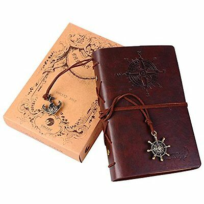 Valery®classic Leather Notebook-vintage Diary &Journal -Blank&lined Refillable