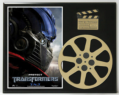 Transformers Labeouf Fox & Duhamel Poster Ltd Edition Movie Reel Display