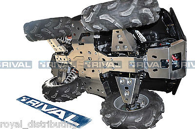 Rival Aluminum Full Skidplate Kit Arctic Cat 2011-Up Mud Pro 700