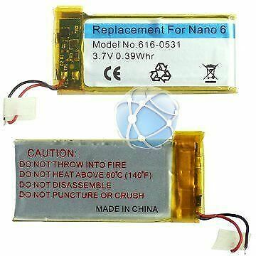 For Apple iPod Nano 6 6G 6th generation replacement battery pack 616-0531