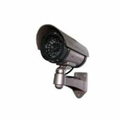 Outdoor Fake Dummy Security Video Camera CCTV with Blinking Light Simulated Mock