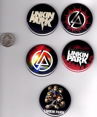 LINKIN PARK 5 Big 2.25 inch Buttons