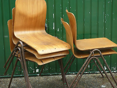 Stackable School-style Chairs, Vintage