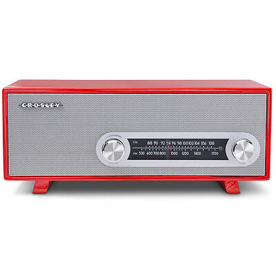 Crosley CR3022A-RE Wood Style Tabletop Audio Ready-Simply Ranchero Radio - Red