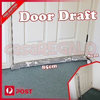 DOOR DRAFT DOOR SNAKE STOPPER Draught Excluder Window Door Guard Cover AUS STOCK