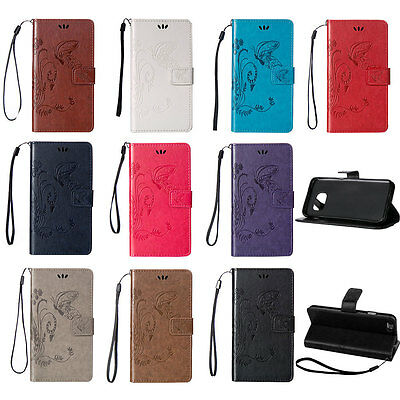 Pattern PU Leather Flip Wallet Card Case Back Cover For Samsung Galaxy On 5 On 7