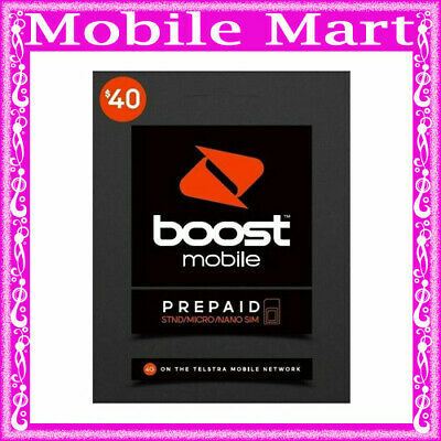 BOOST◉$40 Prepaid SIM CARD◉45 GB Data◉Unlimited Call SMS MMS◉FREE Overseas Calls