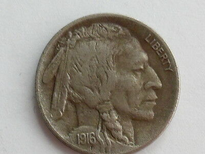 Coinhunters- 1916-D Buffalo Nickel - Almost Uncirculated, AU-Better date