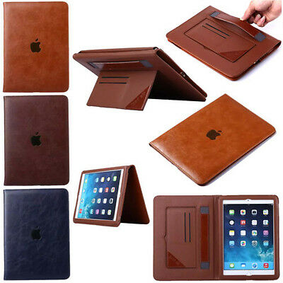 Luxury Genuine Leather Case Smart Auto Sleep Cover For iPad 2 3 4 Mini Air Pro