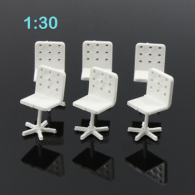 ZY14030 6pcs Model Train Railway Leisure Chair Settee Bench Scenery 1:30 G Scale