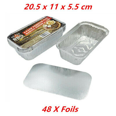 48 X Small Foil Roasters - Party, Kitchen, Restaurant, Wedding, Event