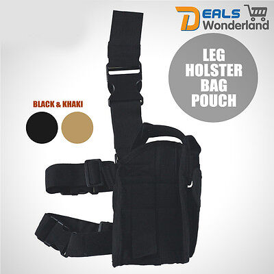 For Right Hand  Military Tactical Pistol Drop Leg Holster Bag Pouch