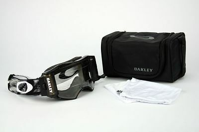 Oakley Airbrake MX Jet Black Clear Race Ready Roll-Off 57-989 DH Enduro NEU