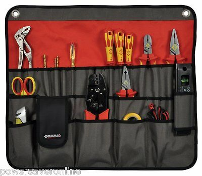 CK MAGMA MA2718 30 Tools Tool Plier Screwdriver Pocket Roll Pouch Bag Case