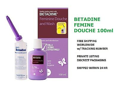 BETADINE FEMININE WASH 100ml 10% Povidone Iodine Vaginal Douching Kit Applicator