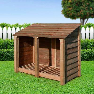 Cottesmore 4Ft Outdoor Wooden Log Store ***clearance Stock***