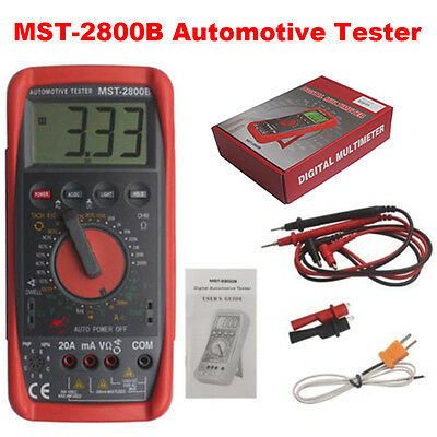 Protable Automotive Intelligent Digital Multimeter Ammeter Analyser MST-2800B