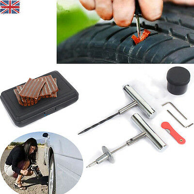 Car Van Motorbike Tubeless Tyre Puncture Repair Tool Kit Tire Plug Auto 30 Strip