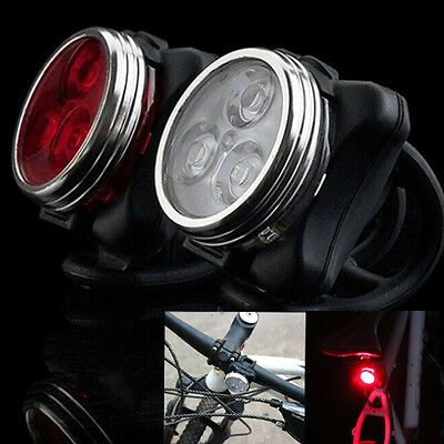 Cycling Bicycle Bike 3 LED Head Front Rear Tail light USB Rechargeable 4 modes