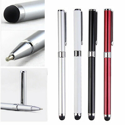 Universal 2 in 1 Capacitive Touch Screen Stylus Ballpoint Pen For Phone Pad