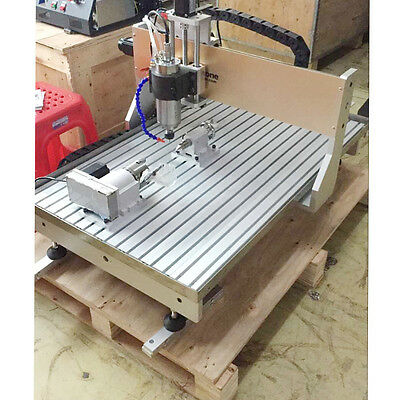 Newest DSP CNC USB  6090 4Axis 2.2KW  Hobby Desktop with Water Cooling System