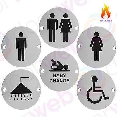 TOILET BATHROOM Door SIGNS Gents Ladies Disabled Unisex Metal Sign Office 76mm