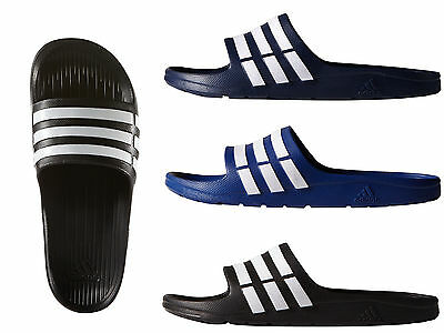 Adidas Duramo Mens Slide Flip-Flops Sandals Pool-Beach Shoes Trainers Slippers