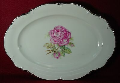 HUTSCHENREUTHER china BELROSE pattern OVAL MEAT Serving PLATTER 12-3/8""