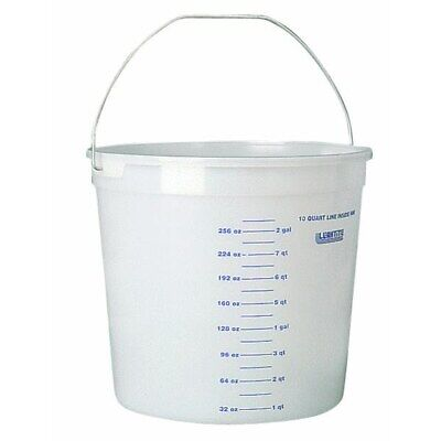 10 Quart Clear Measure Polysteel Rim Pail,Part 11CLR