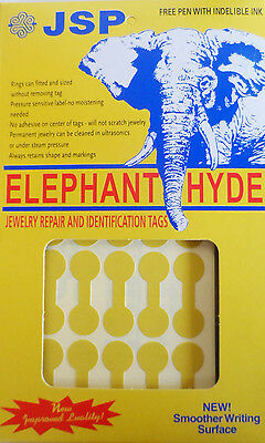 ELEPHANT-HYDE JEWELERS PRICE TAGS GOLD, 1000 tags with indelible pen (ta71)