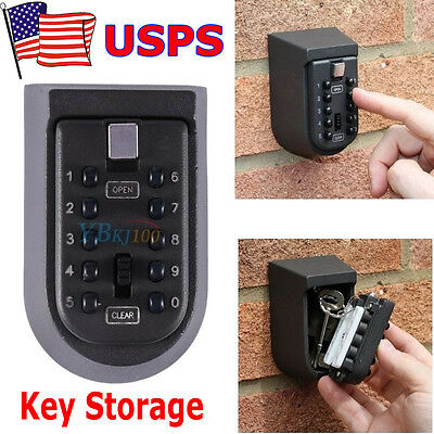 Num Digit Combination Hide Key Lock Box Storage Wall Mount Security Outdoor