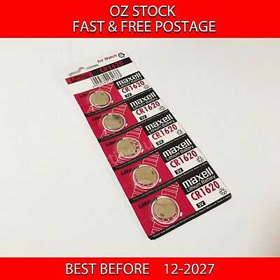 5x MAXELL CR1620 3v lithium Battery button cell/coin for watch remote FAST POST