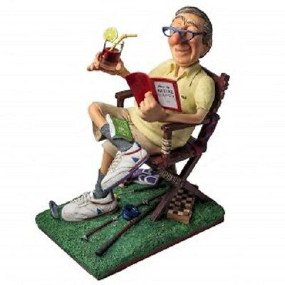 'The RETIREE' GUILLERMO FORCHINO Comical Hand Made Detailed & Painted Sculpture