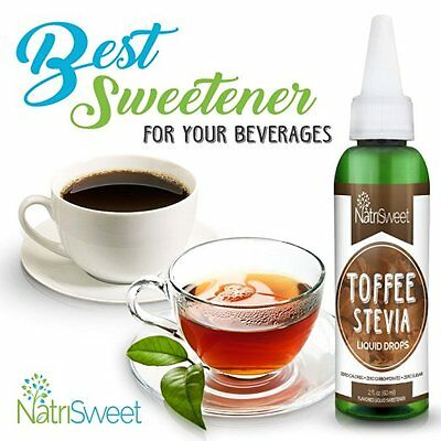 NatriSweet Toffee Flavored Liquid Stevia Drops Concentrated Sugar Substitute(2oz