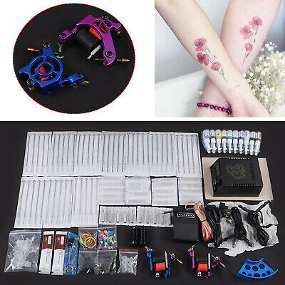 Kit completi per tatuaggi tattoo kit 2 macchina tattoo gun  Power 20 Inchiostro