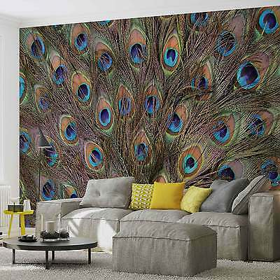WALL MURAL Peacock Feathers XXL PHOTO WALLPAPER (645DC)