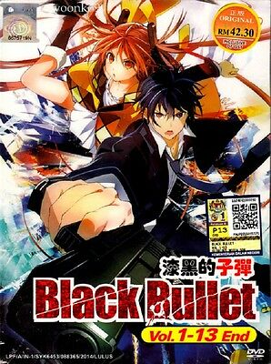 DVD Anime Black Bullet Complete TV Series 1-13 End English Subtitle Region All