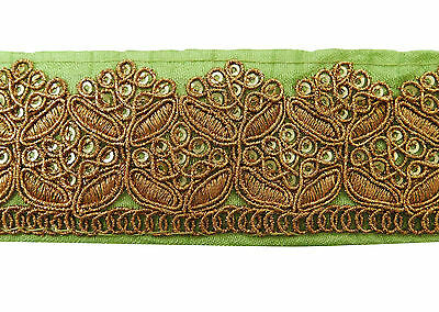 Trim Embroidered Crafting 4 Cm Wide Metallic Fabric Lace Supply Sewing By 1 Yard