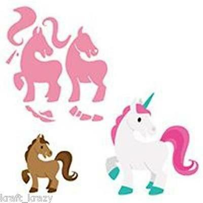 Marianne Design Collectables Die Cutting Emboss Elines Horse Unicorn Col1408