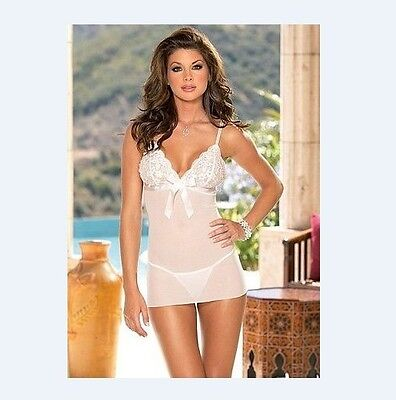 white Babydoll/chemise/lingerie/sleepwear size 6 8 XS S -Melbourne fast services
