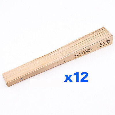 Summer Folding Bamboo Wooden Carved Hand Fan Wedding Bridal Party S*