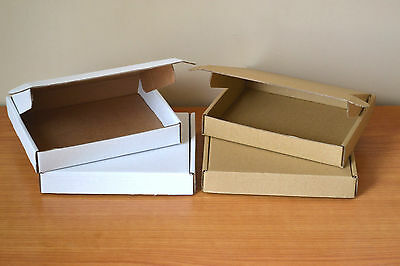SMALL POSTAL CARDBOARD MAILING BOXES PACK OF 10 STRONG BOXES 180x130x16