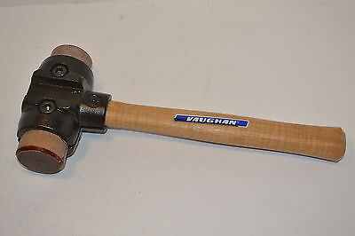 "VAUGHAN made in UK SH200 4 LB 2"" SPLIT HEAD Rawhide HAMMER Mallet  #WL19D10"
