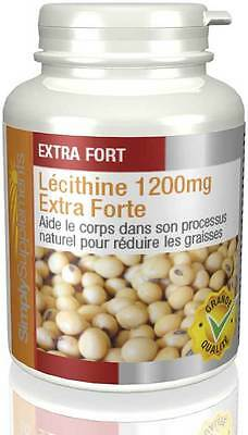 Lécithine 1200mg - 120 capsules - Simply Supplements