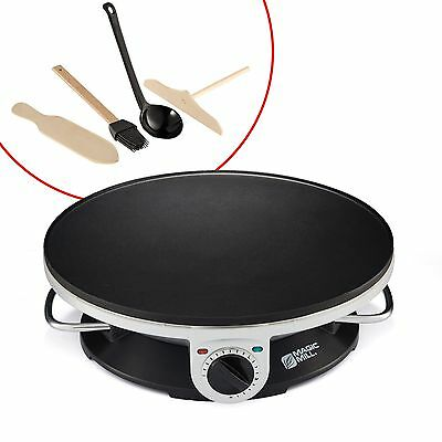 "Magic Mill 13"" Professional Electric Crepe Maker & Griddle Non-stick Cooking ..."