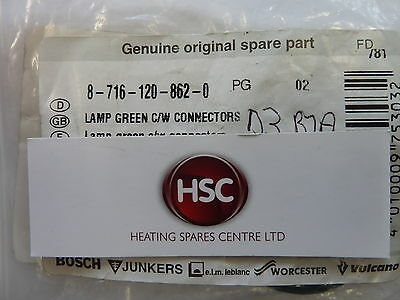 Worcester 280Rsf 350Rsf Green Light Indicator C/w Connectors 87161208620 Genuine