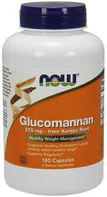 New - NOW Foods Glucomannan 575 mg 180 Caps