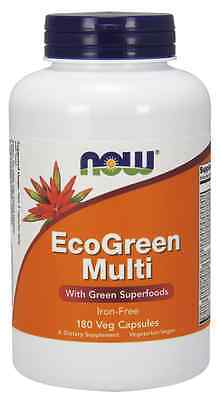New - NOW Foods Eco Green Multivitamin 180 Vcaps