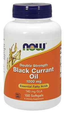New - NOW Foods Black Currant Oil 1000 mg 100 Softgels